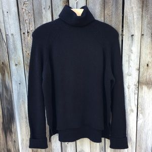 NWT J. Crew Supersoft Turtleneck Sweater Black M